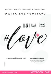 Invitación de bodas LOVE